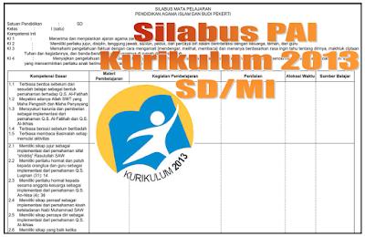 Download Silabus Pendidikan Agama Islam K13 SD