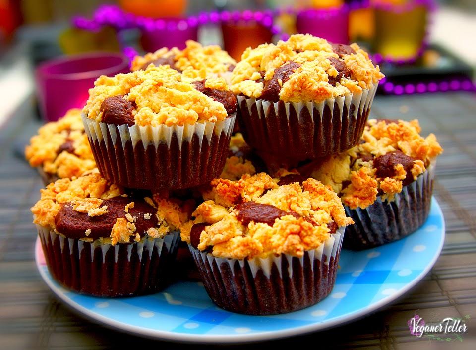 Vanille kirsch muffins vegan