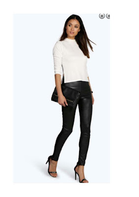 Leather look leggins