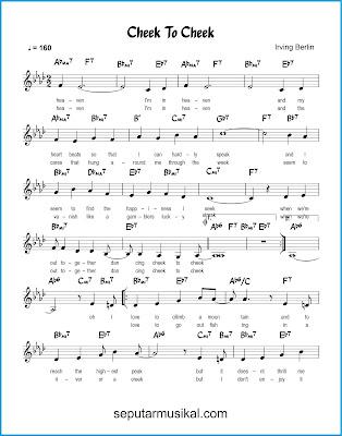 Cheek to Cheek 1 chords jazz standar