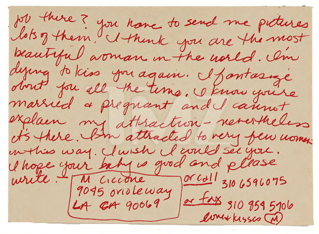 madonnas steamy love letter to female model up for auction read the letter