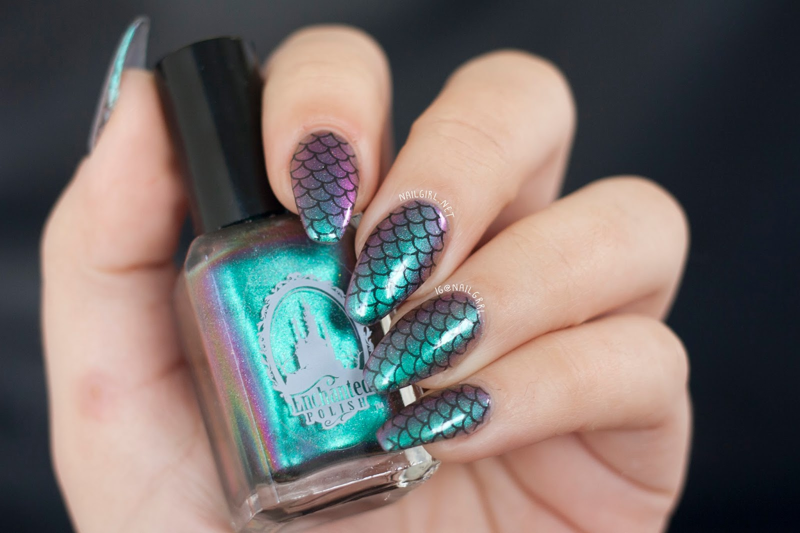 nail art mermaid nails nail girl
