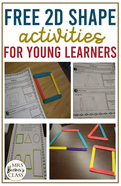 Free 2D Shapes math activities and practice for First Grade and Second Grade