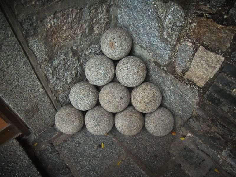 Canon balls at Fortaleza do Monte in Macau