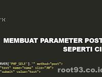 Menyimpan METHOD POST Kedalam Fungsi PHP