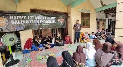 BCI Tangerang Raya Berikan Santunan Anak Yatim di Anniversary 17 Tahun Baleno Club Indonesia