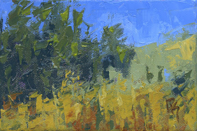 art summer landscape knife abstract