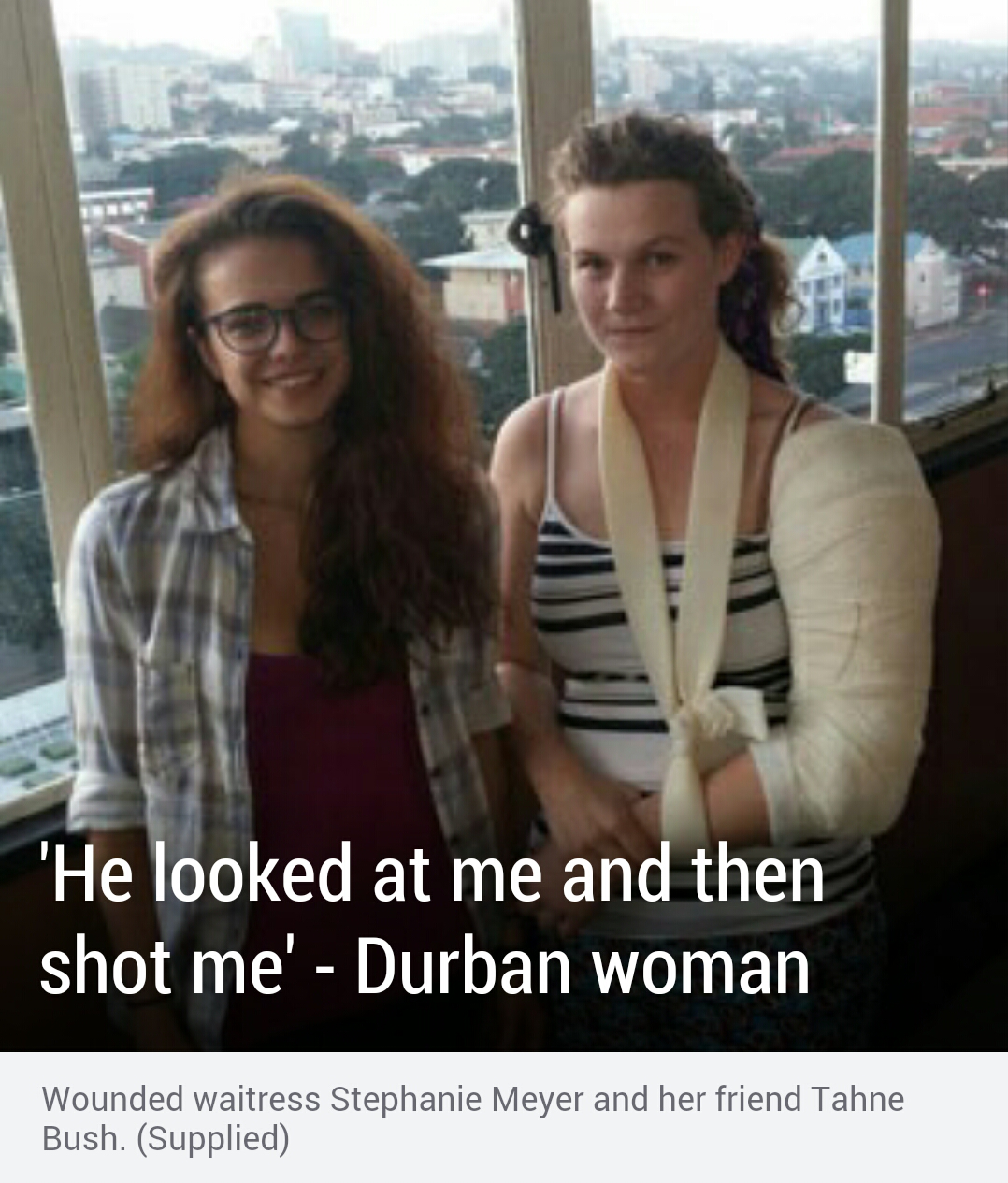 #ATTACK: Afrikaner woman, Stephanie Meyer, 22, was shot when she and a friend rushed to the aid of a man who had been shot in the face by a black man during a carjacking
