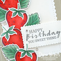 Handmade birthday card using Stampin Up Sweet Strawberry stamp set and punch bundle. Made by Di Barnes, Independent Demonstrator in Sydney Australia - colourmehappy - sydneystamper - 2021-22 annual catalogue