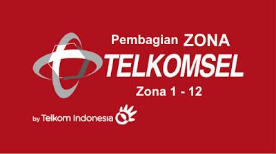 Pembagian Zona Wilayah untuk Paket Data Telkomsel Lengkap Terbaru