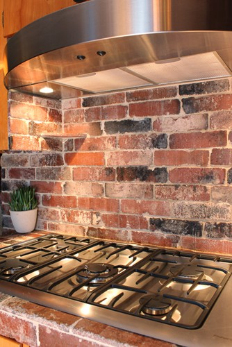 brick tiles for backsplash in kitchen refresheddesigns green idea diy kitchen backsplashes 9316