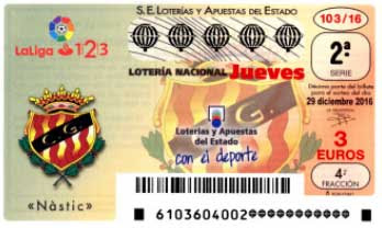 decimos loteria nacional jueves 29 diciembre 2016