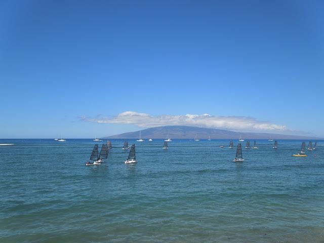 sailboats in Lahaina