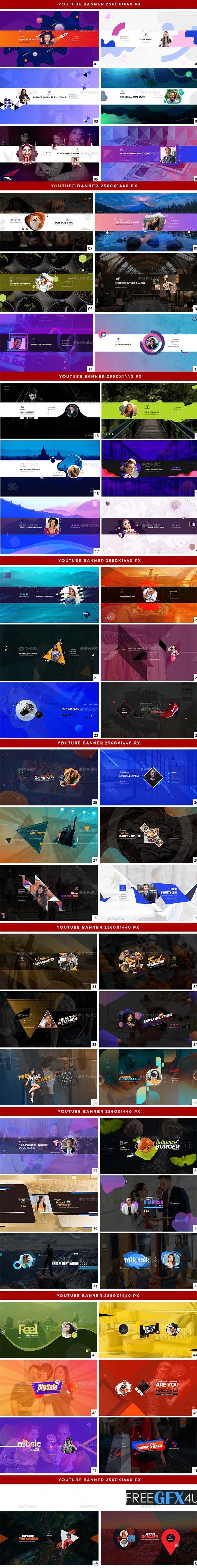 50 YouTube Cover Banners Free Download
