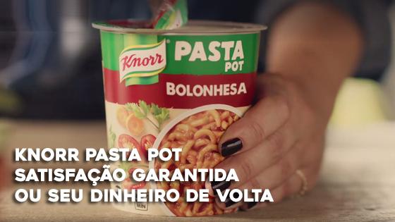 Knorr Pasta Pot Satisfação Garantida ou Seu Dinheiro de Volta