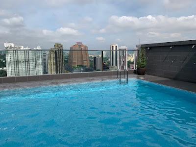 Swimming pool, Hilton Garden Inn KL South on 25th floor