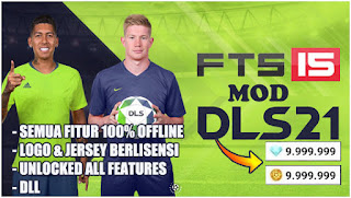 Download FTS 15 MOD DLS 21 Android Offline Unlocked All Player & Unlimited Coins