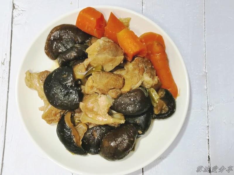 香菇燉肉,零廚藝也可料理的便當菜