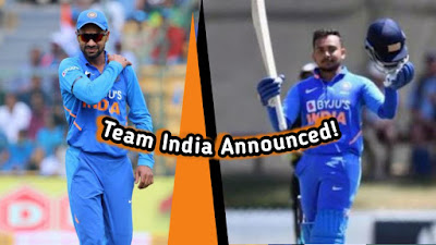India's T20 and ODI team announced
