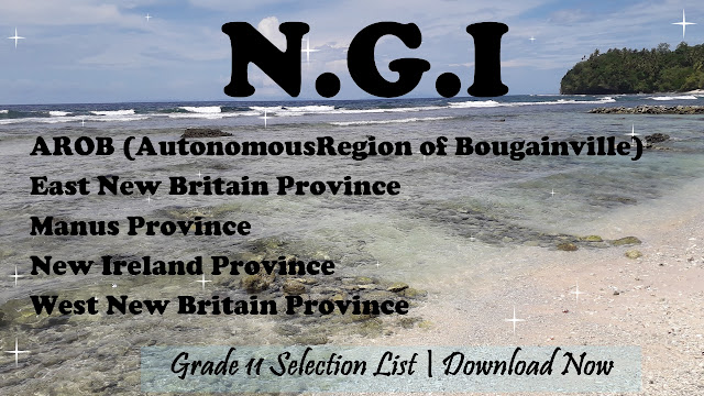 New Guinea Island Grade 11 Selection list