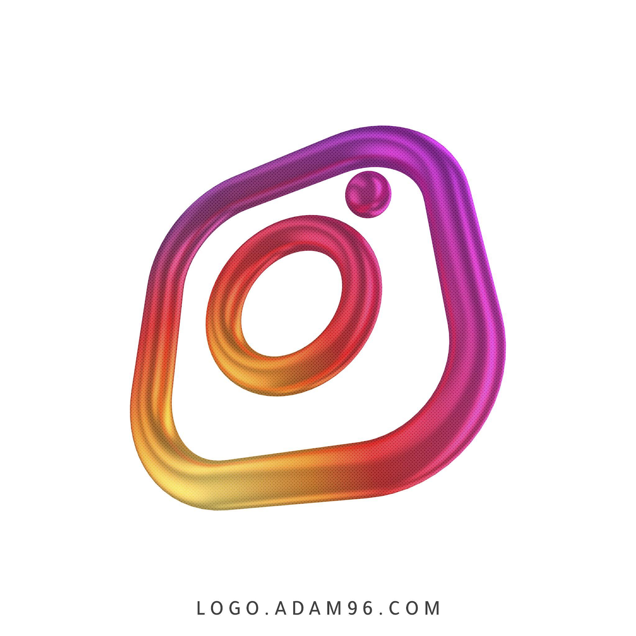 تحميل شعار الانستقرام ثري دي Logo Instagram 3d