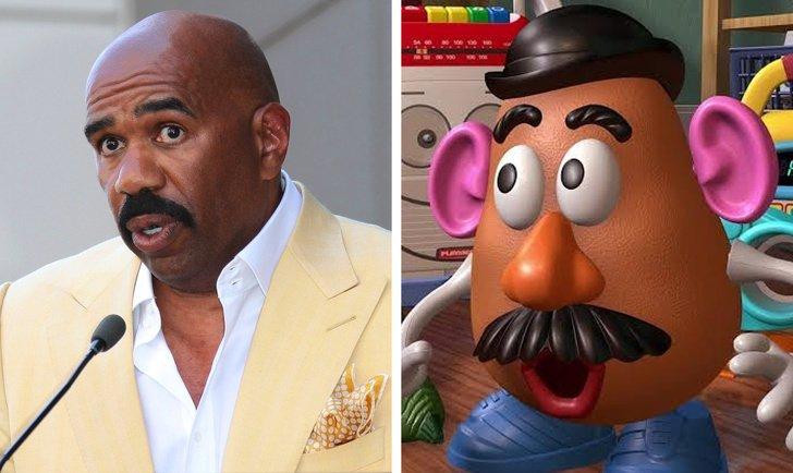 Steve Harvey como o Senhor Cabeça de Batata, de Toy Story