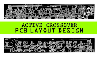 Stereo Active Crossover PCB LM741