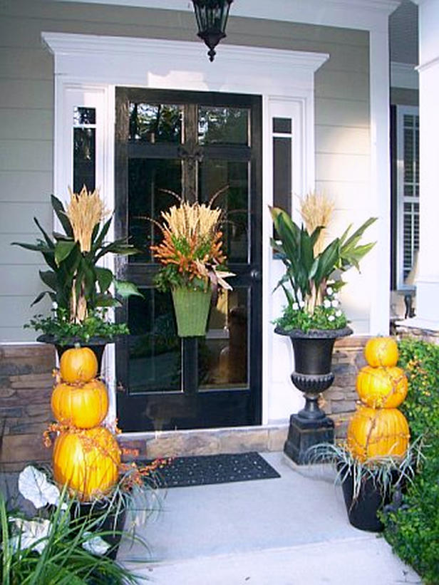 No place like home fall or autumn which do you prefer - Fall porch decorating ideas ...