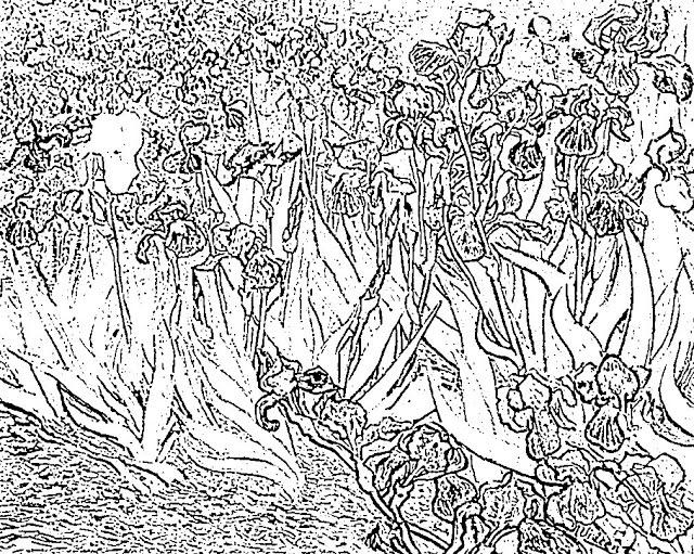 Mi Pequeño Universo Magico Dibujos Para Colorear De Van Gogh