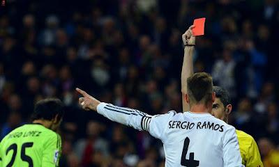 راموس بطاقة حمراء