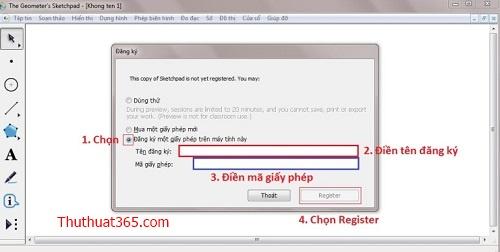 Phần mềm GSP tiếng Việt - Geometer sketchpad kèm key