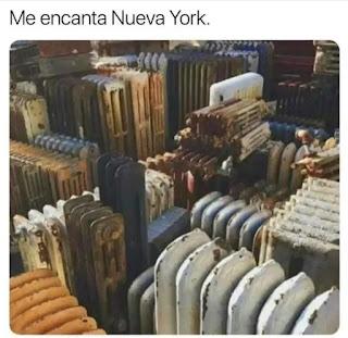 Memes radiadores que parecen nueva York