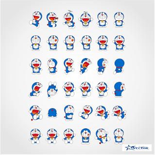 Doraemon Logo Vector cdr Part2 Free Download