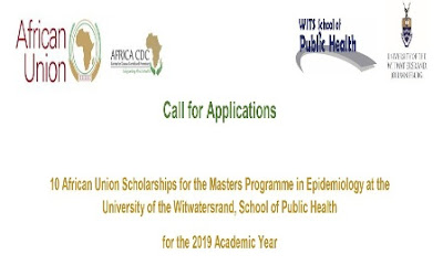 African Union MSc Scholarships at WITS School of Public Health 2019