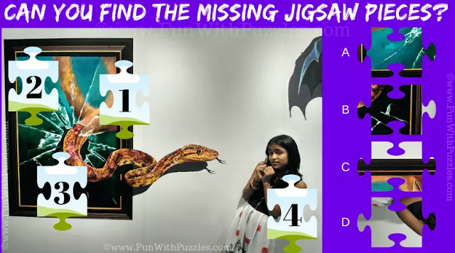 Can you find the missing Jigsaw Piece in this Picture Puzzle?