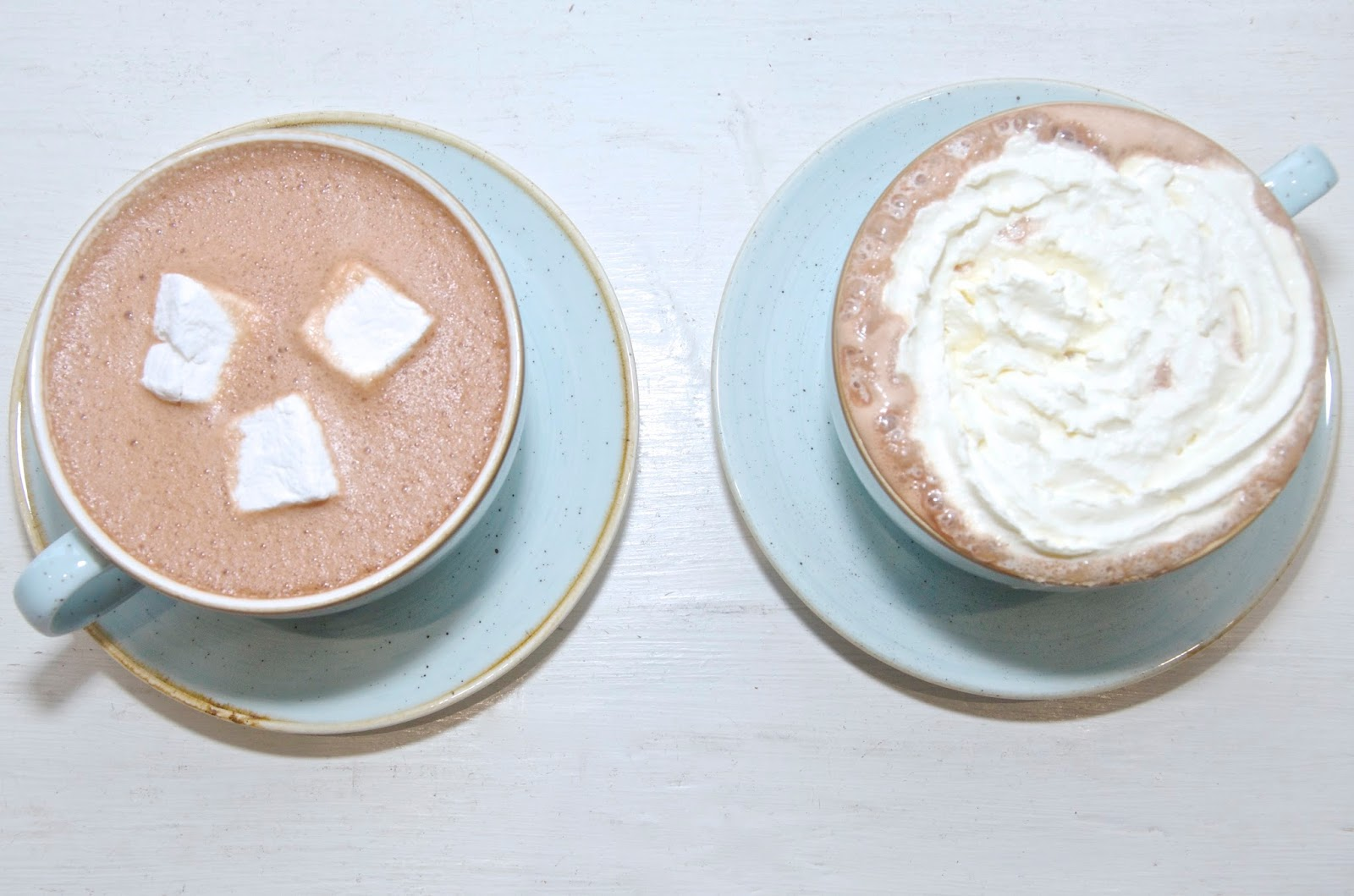 hot chocolate with marshmallows & whipped cream