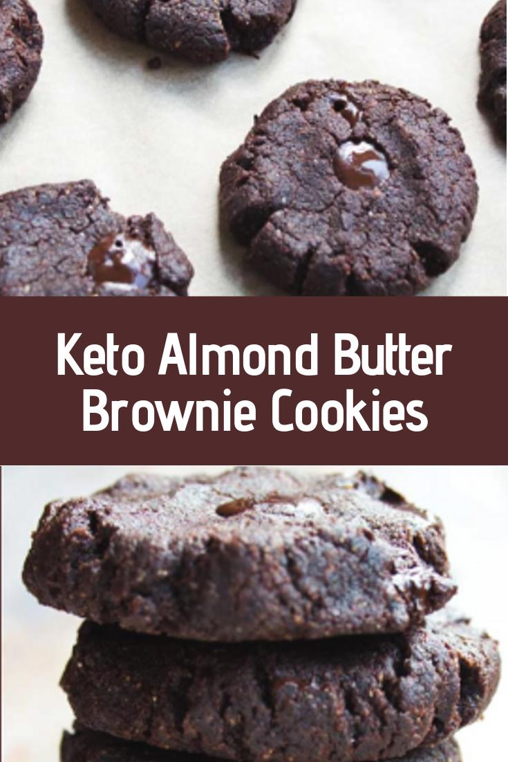 Keto Almond Butter Brownie Cookies