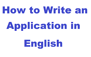 How to Write a Application in English