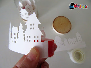 paesaggio per lanterna di carta