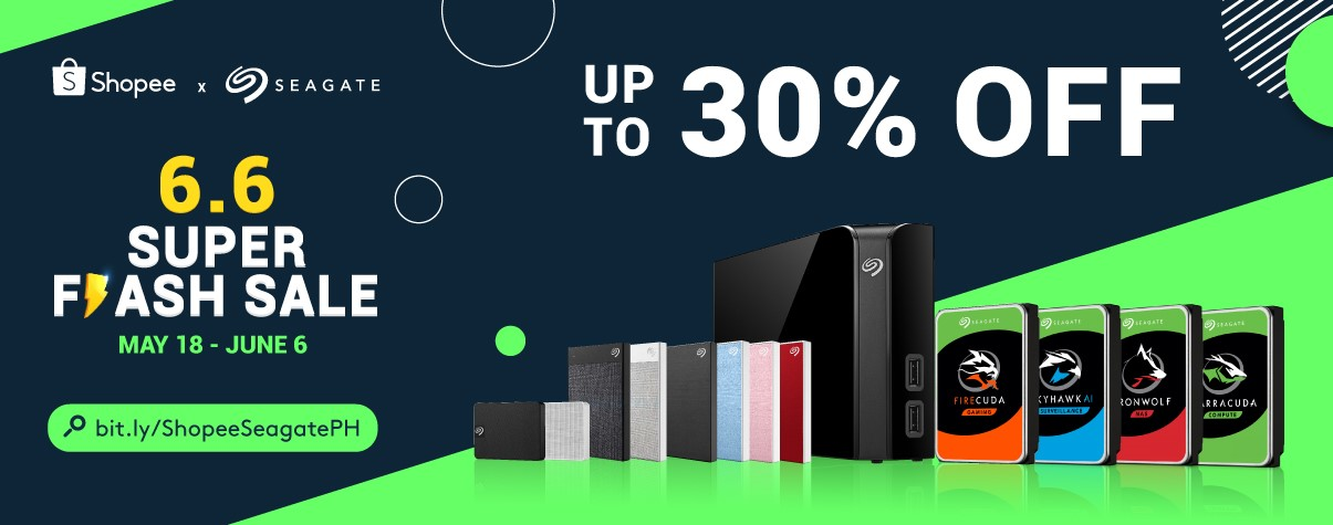 30% Amazing Deals from Seagate Available Exclusively at the Shopee 6.6 Super Flash Sale!