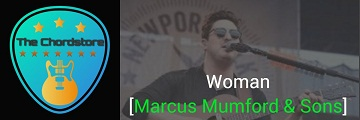 WOMAN Guitar Chords & Intro tab by | Marcus Mumford & Sons