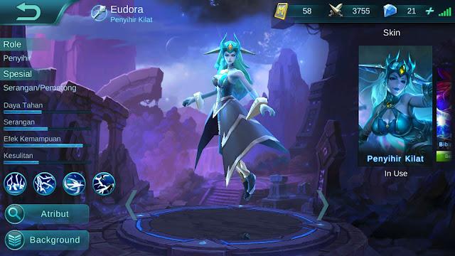 Hero Eudora ( Penyihir Kilat ) High AP Build/ Set up Gear