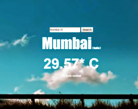 Creating An Awesome LiveWeather App Using jQuery, Open Weather MAP API and BigVideo.js ~ TechYari