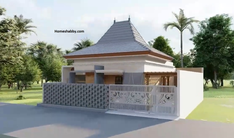 Desain Dan Denah Rumah Joglo Minimalis Ukuran 11 X 12 M Dilengkapi Vertikal Garden Di Area Carport Homeshabby Com Design Home Plans Home Decorating And Interior Design