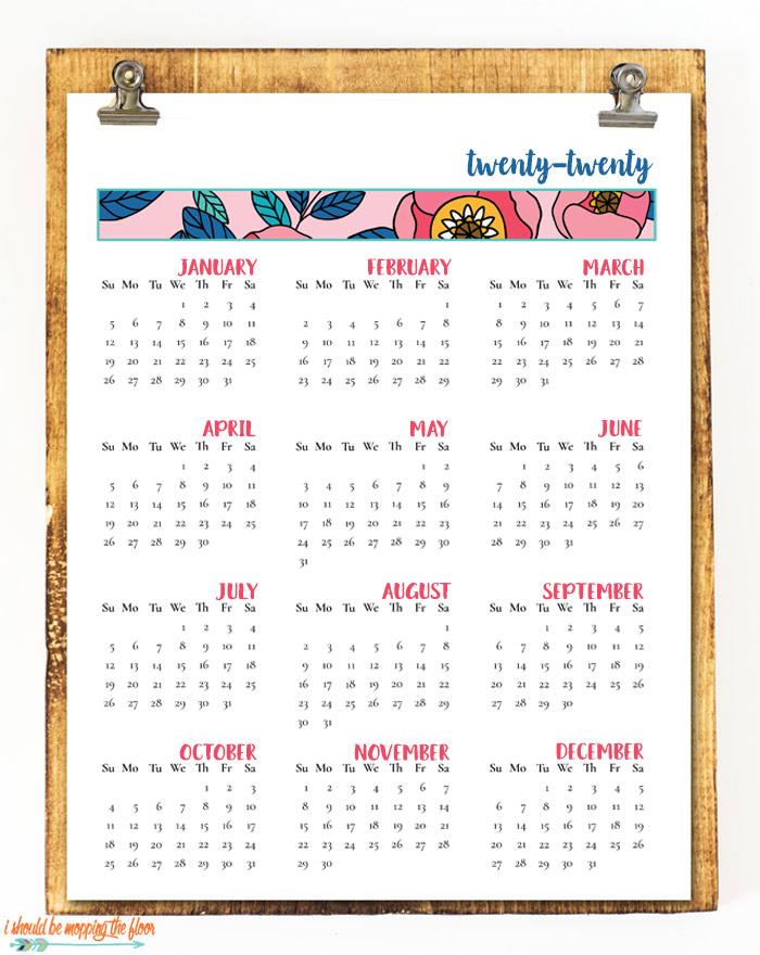 2020 Planning Calendar