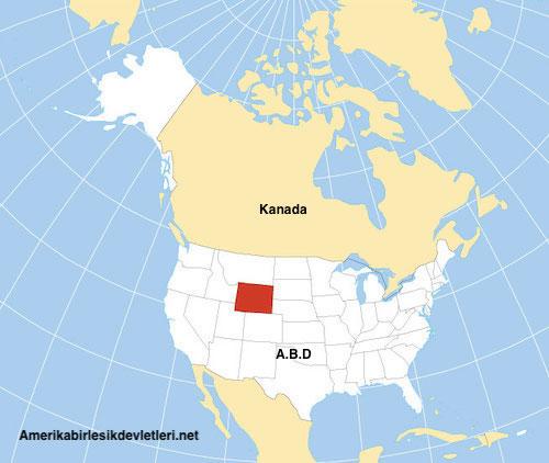 Wyoming yerini gosteren harita