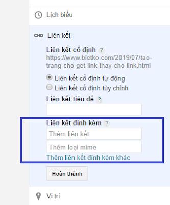 Dán link chia sẽ và điền thể loại mime là text/html