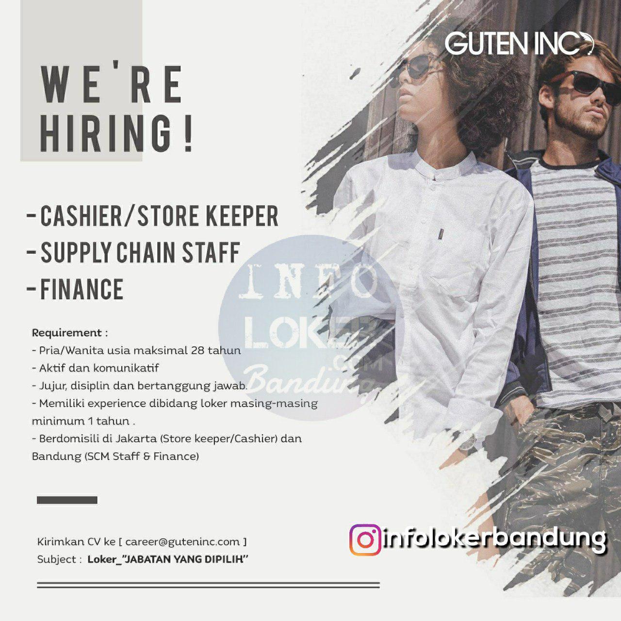 Lowongan Kerja Guten Inc Bandung Juli 2018
