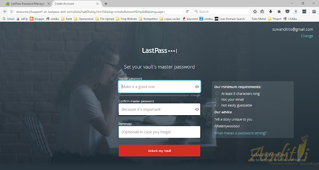 Managerial Password menggunakan lastpass password manager-anditii.web.id