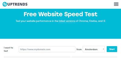 Uptrends website speed test
